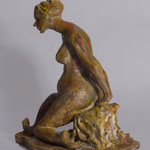 """Seated Model""- Side view"