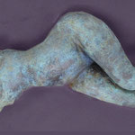 """Reclining Figure""-Clay with Metal Patina"