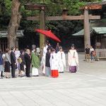 Hochzeit beim Meiji Schrein 1