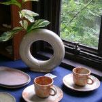 花水木化粧のコーヒーカップ&ソーサー