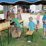 Für Kinder gab es viele Spielstationen.