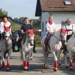 Zahlreiche Reiter beteiligten sich an der Wallfahrt.