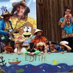 Mit Edith, der Badewanne, stachen die Kinder in See und umrundeten die Welt.