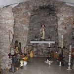 Nachbildung der Lourdesgrotte in der Frauenbrünnlkapelle