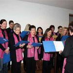 Der Kirchenchor gestaltete den Neujahrstreff musikalisch mit.