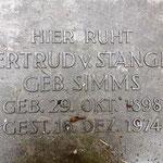Gertrud v. Stangen geb. Simms 1898, die Tochter