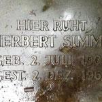 Herbert Simms geb. 1903, ein Sohn