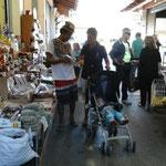 Auf dem Gemüse und Fischmarkt in Corfu