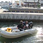 Spritzfahrt mit dem Schlauchboot