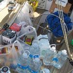Grosseinkauf von Mercadona  auf's Boot geliefert