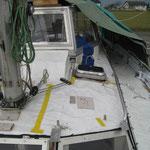 Jetzt ab in die Skipperbude mit den Schablonen und Belag zuschneidne und kleben!