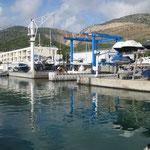 Besichtigung von Hafenplätzen und Ablademöglichkeiten in Port Ginesta