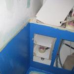 Wasserdichte Farbe im Bad