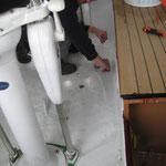 Schablonen für den Cockpitboden werden von Chrigu erstellt