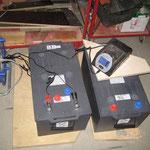 Neue Batterien werden geladen