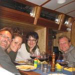 Erstes Abendessen an Bord