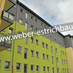 """(2021) - Neubau Betreutes Wohnen """"Am Ohmgebirge"""", 39339 Worbis - Zementestrich, Calciumsulfat-Fließestrich, Leichtestrich Fischer Cyclepor"""