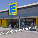 (2019) - Neubau Fachmarktzentrum, 37327 Leinefelde - Zementestrich, schwimmender Zementestrich, Abdichtung gegen aufsteigende Feuchtigkeit, Zementestrich auf Trennlage, Gefälleestrich