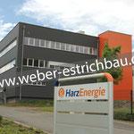 (2020) - Neubau Lagerhalle, Betriebsstätte und Bürogebäude, 37520 Osterode am Harz - Calciumsulfat-Fließestrich, Polytyrol-Hartschaumplatten, Wärmedämmung