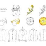 吉祥寺 coromo-cya-ya 3周年アニバーサリーカード用ラフ/シャツはオリジナルブランドのもの(2016,02)