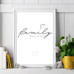4onepictures - personalisierte poster - familie - family - familienposter - a4 - a3 - 30x40 - zuhause - home - personalisiertes geschenk - familien namen - Definition familie