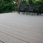 Terrasse in WPC (Wood Plastic composites)- der Wintergarten ist nicht von uns