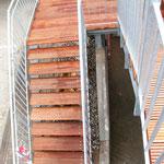Treppe aus Bangkirai