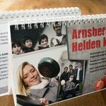 Arnsbergs Helden kochen: Multikultureller Kochkalender, Charity-Projekt, komplette Gestaltung