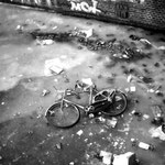 'frozen bike', amsterdam 1987