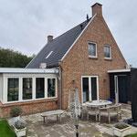 Uitbreiding met serre woning Hooge Veld te Rhenoy