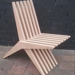 'Boemerangstoel' van gefreesd 30mm MDF