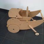 Kinderstoel als bolderkar