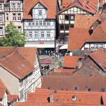 Blick von der Tillyschanze auf den Stadtkern