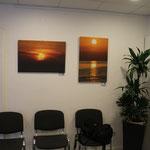 Ausstellungsraum --- Praxis --- Sonnenuntergang auf Leinwand