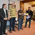 Am Foto der Gruppe A fehlt Willi Höllrigl, Florian Gatterer wurde 4.