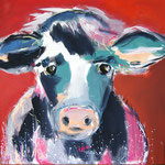 Kuh 80 x 80 cm, verkauft