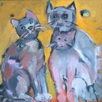 Katzen 100 x 100 cm