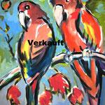 Papageien 120 x 160, verkauft
