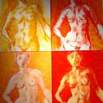 Vier Damen Soli 200 x 160 cm