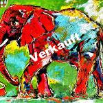 Elefant 80 x 100 cm