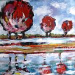 Landschaft V 100 x 100 cm, verkauft