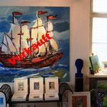 Schiff 140 x 140 cm