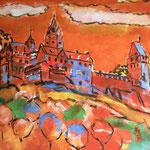 Burg Altena 140 x 140 cm, verkauft