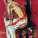 Mann im Stuhl 30 x 40 cm