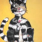 Katze 100 x 80 cm, verkauft