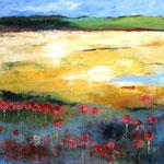 Landschaft 120 x 120 cm, verkauft