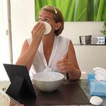 Vorbereitung der Haut