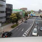 新馬込橋から下を走る環七(大森方面)