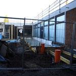 8.12.14 Dachsanierung und Vorbereitungen für den Glasanbau