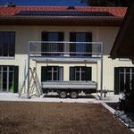 Aufgeständerte Balkonkonstruktion